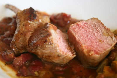 Fragrant roasted Lamb with flageolet beans